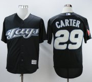 Wholesale Cheap Blue Jays #29 Joe Carter Black 2008 Turn Back The Clock Stitched MLB Jersey