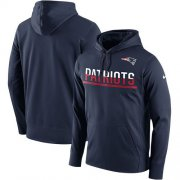 Wholesale Cheap Men's New England Patriots Nike Navy Sideline Circuit Pullover Performance Hoodie