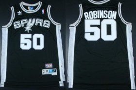 Wholesale Cheap San Antonio Spurs #50 David Robinson Black Swingman Throwback Jersey