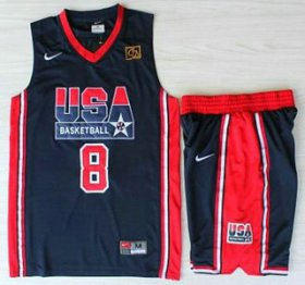 Wholesale Cheap USA Basketball 1992 Olympic Dream Team #8 Scottie Pippen Blue Jerseys & Shorts