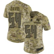 Wholesale Cheap Nike Buccaneers #54 Lavonte David Camo Women's Stitched NFL Limited 2018 Salute to Service Jersey