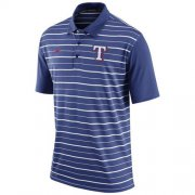 Wholesale Cheap Men's Texas Rangers Nike Royal Dri-FIT Stripe Polo