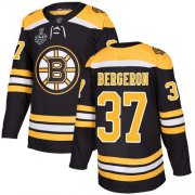 Wholesale Cheap Adidas Bruins #37 Patrice Bergeron Black Home Authentic Stanley Cup Final Bound Youth Stitched NHL Jersey