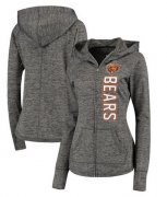 Wholesale Cheap Women's NFL Chicago Bears G-III 4Her by Carl Banks Recovery Full-Zip Hoodie Heathered Gray