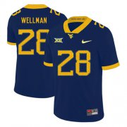 Wholesale Cheap West Virginia Mountaineers 28 Elijah Wellman Navy College Football Jersey