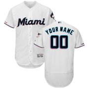 Wholesale Cheap Miami Marlins Majestic Home 2019 Authentic Collection Flex Base Custom Jersey White