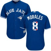 Wholesale Cheap Blue Jays #8 Kendrys Morales Blue Team Logo Fashion Stitched MLB Jersey