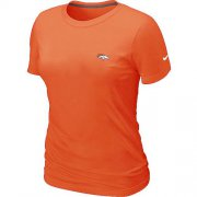 Wholesale Cheap Women's Nike Denver Broncos Chest Embroidered Logo T-Shirt Orange