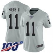 Wholesale Cheap Nike Raiders #11 Henry Ruggs III Silver Women's Stitched NFL Limited Inverted Legend 100th Season Jersey