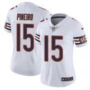 Wholesale Cheap Nike Bears #15 Eddy Pineiro White Women's Stitched NFL Vapor Untouchable Limited Jersey
