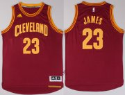 Wholesale Cheap Cleveland Cavaliers #23 LeBron James Revolution 30 Swingman 2014 New Red Jersey