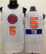 Wholesale Cheap New York Knicks #5 Tim Hardaway Jr. 2014 Christmas Day White Swingman Jersey