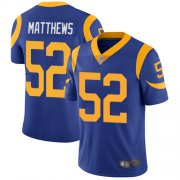 Wholesale Cheap Nike Rams #52 Clay Matthews Royal Blue Alternate Men's Stitched NFL Vapor Untouchable Limited Jersey