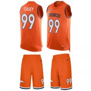 Wholesale Cheap Nike Broncos #99 Jurrell Casey Orange Team Color Men's Stitched NFL Limited Tank Top Suit Jersey