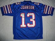 Wholesale Cheap Bills #13 Steve Johnson Baby Blue Stitched NFL Jersey