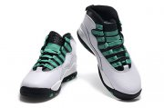 Wholesale Cheap Womens Air Jordan 10 Shoes White/Green-Black