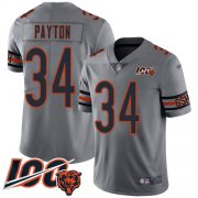 Wholesale Cheap Nike Bears #34 Walter Payton Silver Men's Stitched NFL Limited Inverted Legend 100th Season Jersey