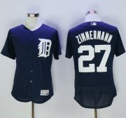 Wholesale Tigers #27 Jordan Zimmermann Navy Blue Flexbase Authentic Collection Stitched Baseball Jersey