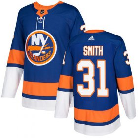 Wholesale Cheap Adidas Islanders #31 Billy Smith Royal Blue Home Authentic Stitched NHL Jersey