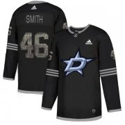 Wholesale Cheap Adidas Stars #46 Gemel Smith Black Authentic Classic Stitched NHL Jersey