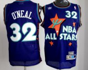 Wholesale Cheap NBA 1995 All-Star #32 Shaquille O'neal Purple Swingman Throwback Jersey