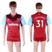 Wholesale Cheap West Ham United #31 Fernandes Home Soccer Club Jersey