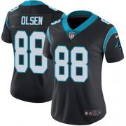 Wholesale Cheap Nike Panthers #88 Greg Olsen Black Team Color Women's Stitched NFL Vapor Untouchable Limited Jersey