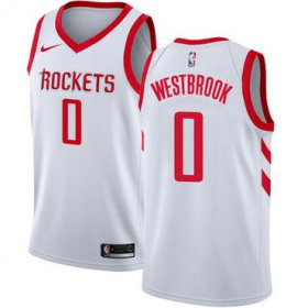 Wholesale Cheap Nike Rockets #0 Russell Westbrook White NBA Swingman Association Edition Jersey