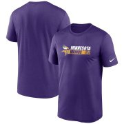 Wholesale Cheap Minnesota Vikings Nike Fan Gear Team Conference Legend Performance T-Shirt Purple