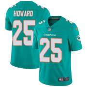 Wholesale Cheap Nike Dolphins #25 Xavien Howard Aqua Green Team Color Men's Stitched NFL Vapor Untouchable Limited Jersey