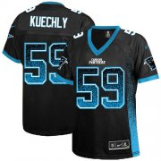 Wholesale Cheap Nike Panthers #59 Luke Kuechly Black Team Color Women's Stitched NFL Elite Drift Fashion Jersey