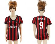 Wholesale Cheap Women's AC Milan #9 Inzaghi Home Soccer Club Jersey