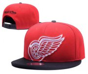 Wholesale Cheap NHL Detroit Red Wings Stitched Snapback Hats 003