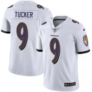Wholesale Cheap Nike Ravens #9 Justin Tucker White Men's Stitched NFL Vapor Untouchable Limited Jersey