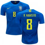 Wholesale Cheap Brazil #8 R.Augusto Away Kid Soccer Country Jersey