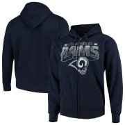 Wholesale Cheap Los Angeles Rams G-III Sports by Carl Banks Perfect Season Full-Zip Hoodie Navy