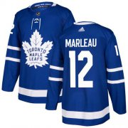 Wholesale Cheap Adidas Maple Leafs #12 Patrick Marleau Blue Home Authentic Stitched Youth NHL Jersey