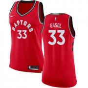 Wholesale Cheap Raptors #33 Marc Gasol Red Women's Basketball Swingman Icon Edition Jersey