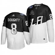 Wholesale Cheap Adidas Los Angeles Kings #8 Drew Doughty Men's 2020 Stadium Series White Black Stitched NHL Jersey