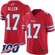 Wholesale Cheap Nike Bills #17 Josh Allen Red Youth Stitched NFL Limited Rush 100th Season Jersey
