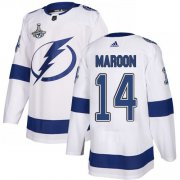 Cheap Adidas Lightning #14 Pat Maroon White Road Authentic Youth 2020 Stanley Cup Champions Stitched NHL Jersey