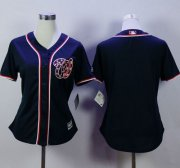Wholesale Cheap Nationals Blank Navy Blue Alternate 2 Women's Stitched MLB Jersey