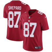 Wholesale Cheap Nike Giants #87 Sterling Shepard Red Alternate Men's Stitched NFL Vapor Untouchable Limited Jersey