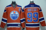 Wholesale Cheap Oilers #99 Wayne Gretzky Orange CCM Throwback Stitched NHL Jersey