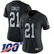 Wholesale Cheap Nike Raiders #21 Gareon Conley Black Team Color Women's Stitched NFL 100th Season Vapor Limited Jersey