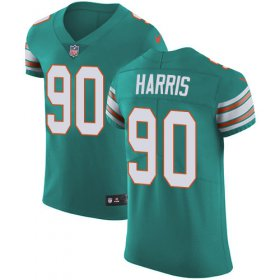 Wholesale Cheap Nike Dolphins #90 Charles Harris Aqua Green Alternate Men\'s Stitched NFL Vapor Untouchable Elite Jersey
