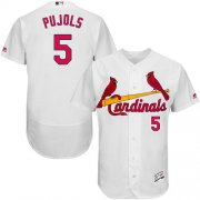 Wholesale Cheap Cardinals #5 Albert Pujols White Flexbase Authentic Collection Stitched MLB Jersey