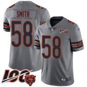 Wholesale Cheap Nike Bears #58 Roquan Smith Silver Youth Stitched NFL Limited Inverted Legend 100th Season Jersey