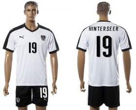 Wholesale Cheap Austria #19 Hinterseer White Away Soccer Country Jersey