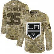 Wholesale Cheap Adidas Kings #35 Darcy Kuemper Camo Authentic Stitched NHL Jersey